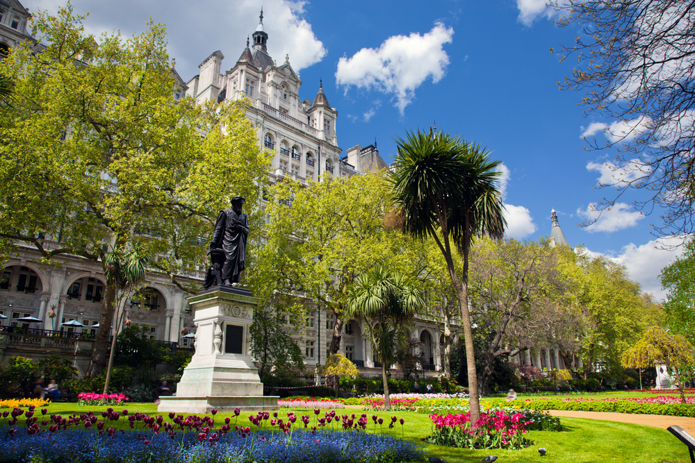 Victoria Embankment Gardens in London
