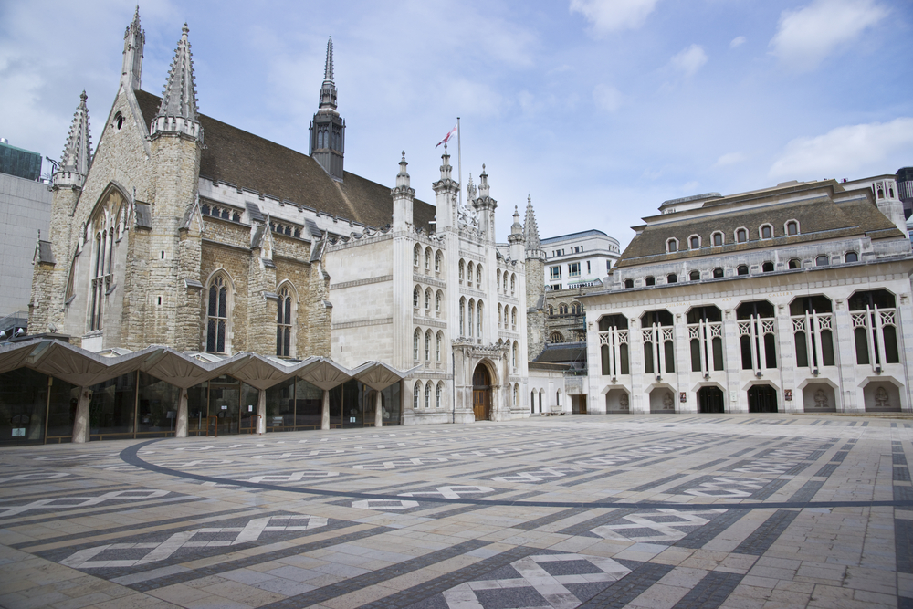 The Guildhall and art gallery in the City of London